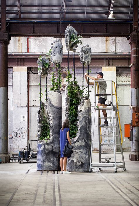Succession was created for the 20th Biennale of Sydney: The Future is Already Here - It's Just Not Evenly Distributed. It consists of two fragmented columns inhabited by a selection of Australian plant species that continued to grow over the course of the…