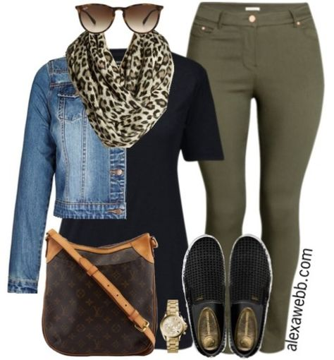 Inspiration - Plus Size Casual Outfit A plus size casual outfit with khaki skinnies!A plus size casual outfit with khaki skinnies! Fashion Mode, Curvy Fashion, Look Fashion, Autumn Fashion, Fashion Ideas, Ladies Fashion, Feminine Fashion, Fashion 2018, 50 Fashion