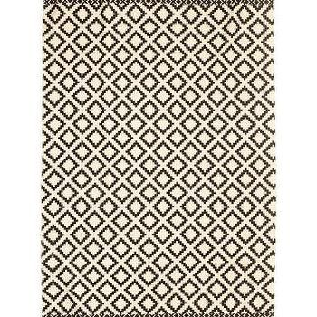 Large Black And White Diamond Pattern Rug For The Home Pinterest