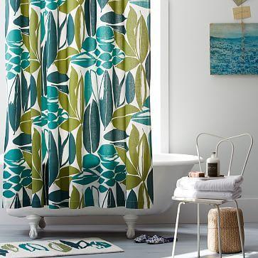 Rainforest Shower Curtain Westelm Retro Living Rooms Living Room Loft Rainforest Shower