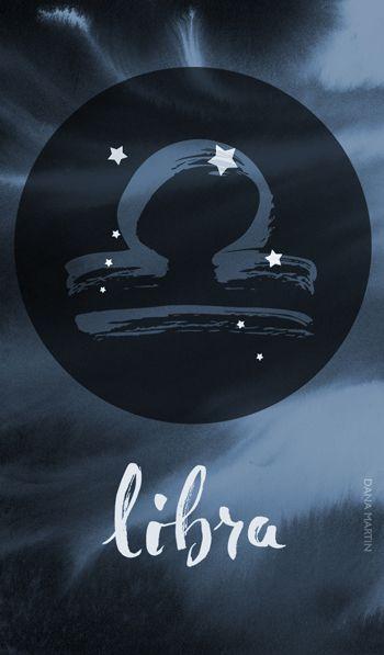 Printable Libra Zodiac Quote Blank Greeting Card Digital Download