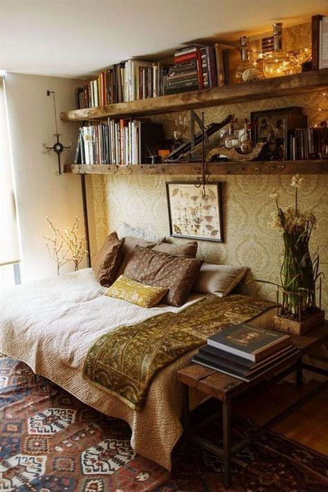 Bohemian Bedroom Design, Bohemian Living Rooms, Bohemian Style Bedrooms, Shabby Chic Bedrooms, Master Bedroom Design, Home Decor Bedroom, Hipster Bedrooms, Bedroom Furniture, Bedroom Ideas