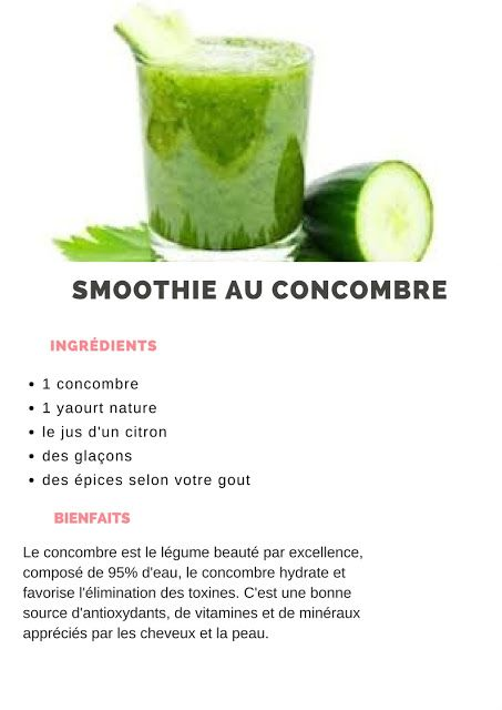 smoothie concombre yaourt)