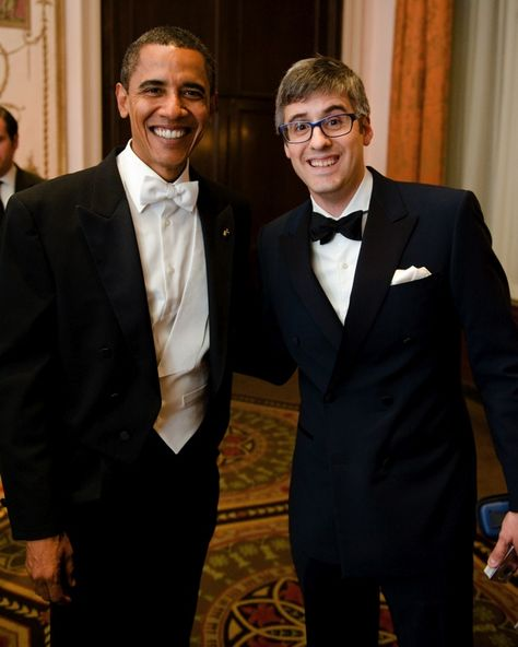 Barack Obama and Mo Rocca!