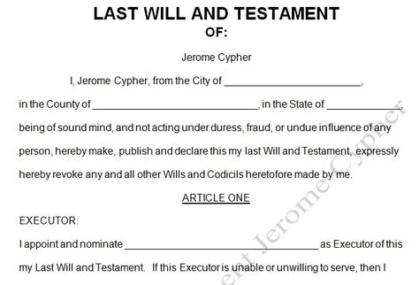Last will and testament template Form New Mexico New Mexico Last