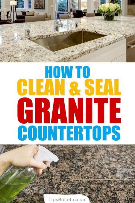 11 Easy Ways To Clean Granite Countertops More Cleaning Granite Countertops How To Clean Granite Granite Countertops Kitchen