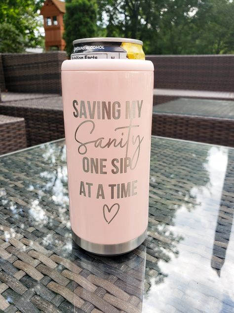 Saving My Sanity One Sip At A Time Skinny Can Koozie