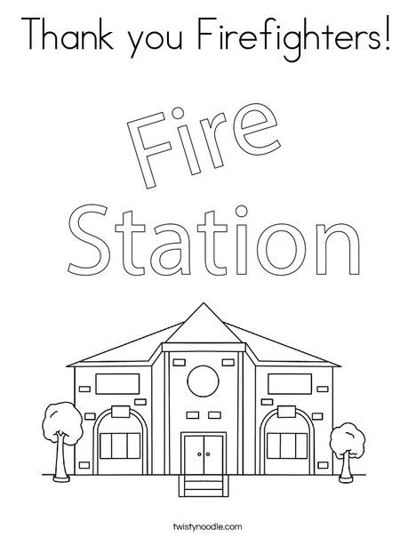 Thank You Firefighters Coloring Page Twisty Noodle Coloring Pages Owl Coloring Pages Easy Coloring Pages
