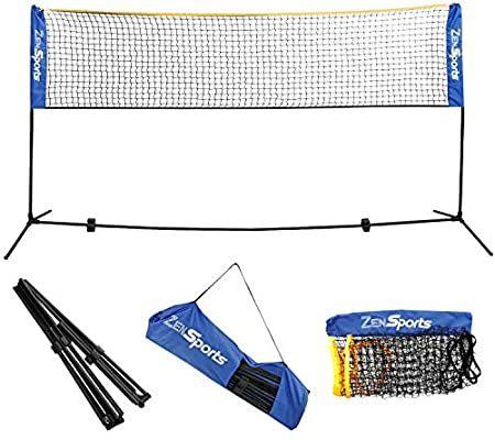 Amazon Com Zeny Portable Badminton Net Set For Soccer Tennis Pickleball Kids Volleyball Indoor Outdoor Court In 2020 Kids Volleyball Soccer Tennis Badminton Nets