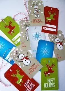 Skip to My Lou printable holiday gift tags