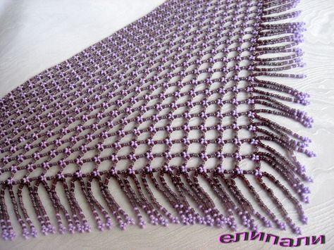 Сиреневая косынка | biser.info - всё о бисере и бисерном творчестве