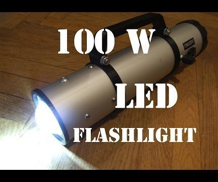 Diy 100w Led Flashlight Led Flashlight Flashlight Tactical Flashlight