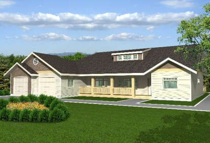 House Plan 699 00232 Lake Front Plan 3 007 Square Feet 3 4 Bedrooms 2 5 Bathrooms Ranch Style House Plans Ranch House Plans Rancher House Plans