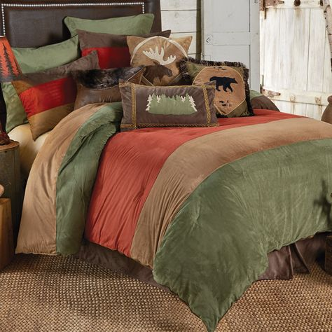Outdoor Adventure Bear Moose Bed Set King In A Cabin In The