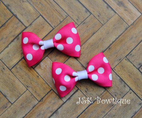 Mini Polka Dot Hair Bows
