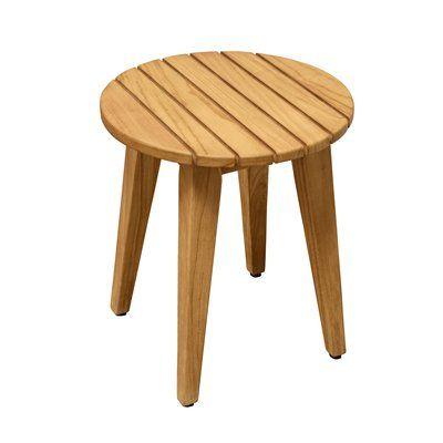 Asta Furniture Inc Spa Teak Round Shower Stool Shower Stool