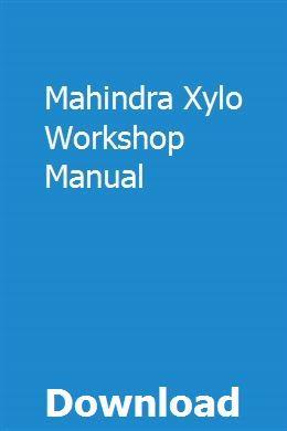 Mahindra Xylo Workshop Manual Owners Manuals Repair Manuals Yamaha V Star