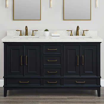 Parker Midnight 60 Inch Double Sink Vanity By Mission Hills 72