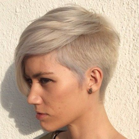 Ash Blonde Pixie With Side Undercut                                                                                                                                                                                 More
