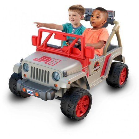 Power Wheels Jurassic Park Jeep Wrangler Ride On Vehicle Multicolor Jurassic Park Jeep Power Wheels Jeep Wrangler