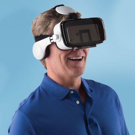 The Virtual Reality Smartphone Headset - Hammacher Schlemmer