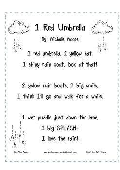c931bf12b564 Image result for umbrella poem preschool   school   Kindergarten ...