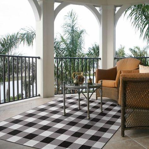 9 X 12 Buffalo Plaid Outdoor Rug Black Threshold With Images Outdoor Rugs Buffalo Plaid Carpet Cleaning Hacks