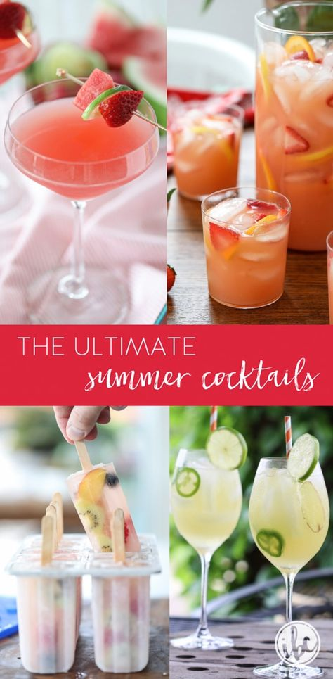 The Ultimate Collection of Summer Cocktail Recipes #summer #cocktails #sangria #martini #margarita #punch #easy #cocktail #recipe
