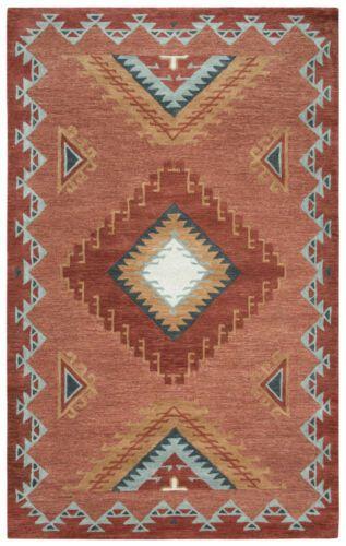 Designer Southwestern Tribal Plush Hand Tufted Wool Area Rug **FREE SHIPPING**