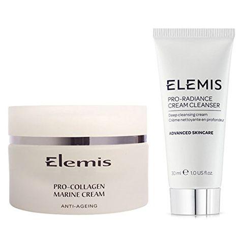 Elemis Pro Collagen Marine Cream And Pro Radiance Cream Cleanser