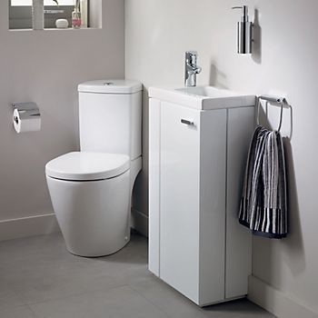 Corner Toilet In A Compact Cloakroom Corner Toilet Vanity Units Small Bathroom