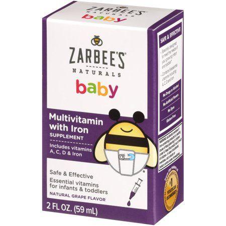 Zarbee S Naturals Baby Multivitamin With Iron Supplement Grape 2 Fl Oz Walmart Com In 2020 Multivitamins With Iron Multivitamin Immune Support Vitamins