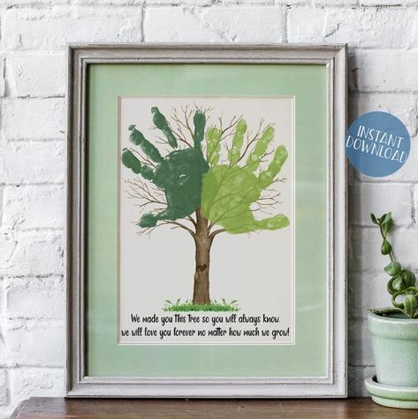 Diy Gifts For Grandma, Unique Gifts For Dad, Best Dad Gifts, Perfect Gift For Dad, Uncle Gifts, Finger Print, Selling Handmade Items, Hand Prints, Handprint Art