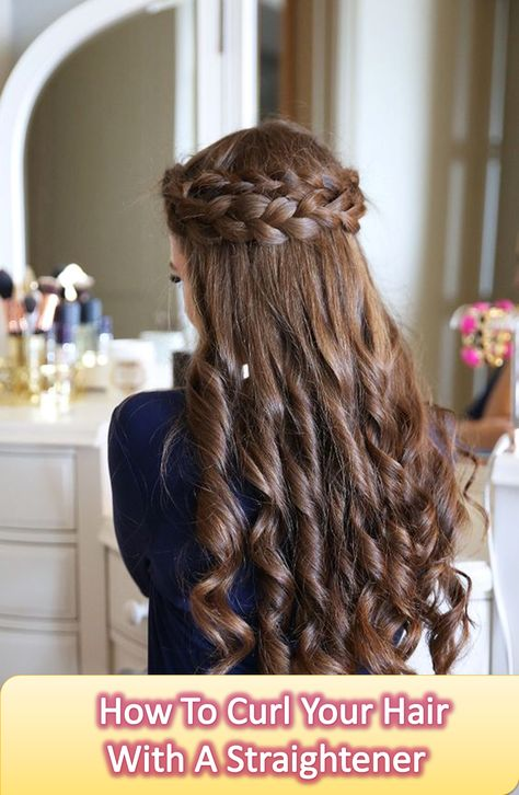 Easy And Simple Method To Curl Your Hair With A Hair Straightener