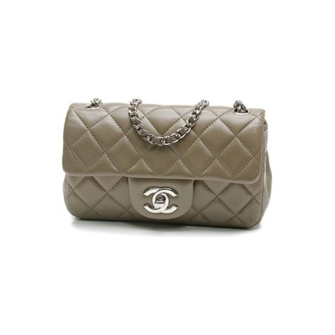0c745e6b5266 Pre-Owned Chanel Olive Green Quilted Lambskin Extra Mini Flap Bag ...