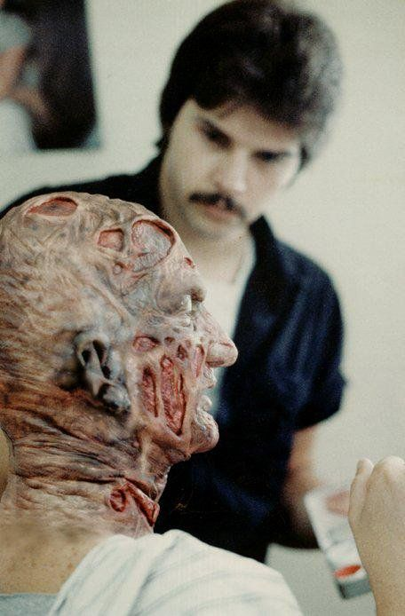 Robert Englund In Make Up As Freddy Krueger Behind The Scenes On