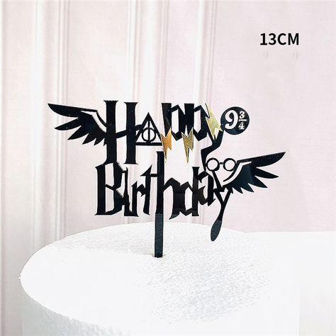 Happy Birthday Harry Potter Mixed Acrylic Cake Topper