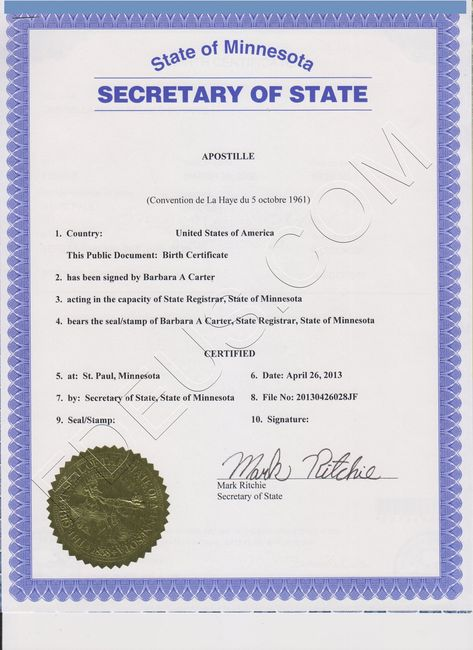 Illinois apostille The following documents are acceptable for - copy apostille birth certificate massachusetts
