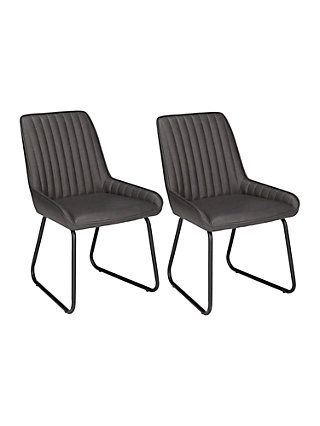 9005957109c9 BuyJohn Lewis & Partners Brooks Side Dining Chairs, Set of 2, Charcoal  Online at johnlewis.com