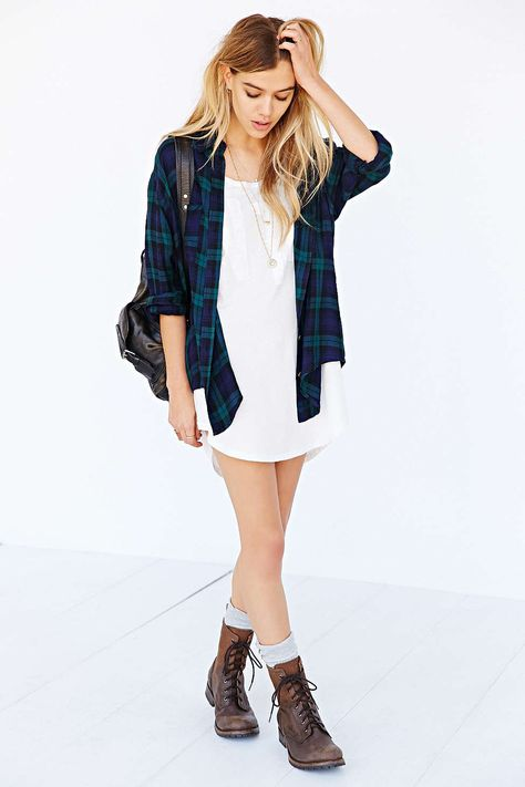 Urban outfitters clothes. Green check shirt