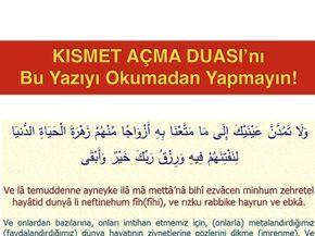 Kismet Acma Duasi Dua Prayers Post