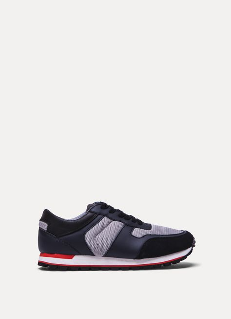 HACKETT LEATHER BLEND TRAINERS