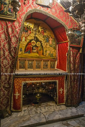Church of the Nativity, Bethlehem. Beneath the altar is the place where Jesus was born.