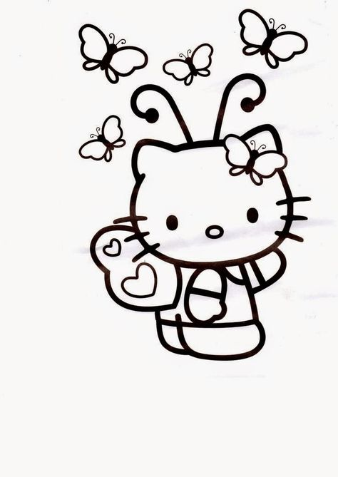 Free Printable Hello Kitty Coloring Pages Picture 4 550x770 Picture - fresh keroppi coloring pages free to print