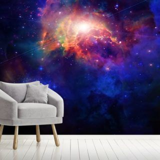 Space Wallpaper Mural Wallsauce Us Cloud Wallpaper Popular Wallpaper Mural