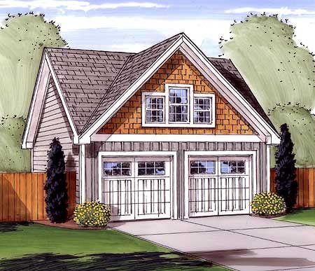 Plan 62477DJ: Attractive Gabled 2 Car Garage | Car garage, Storage ...