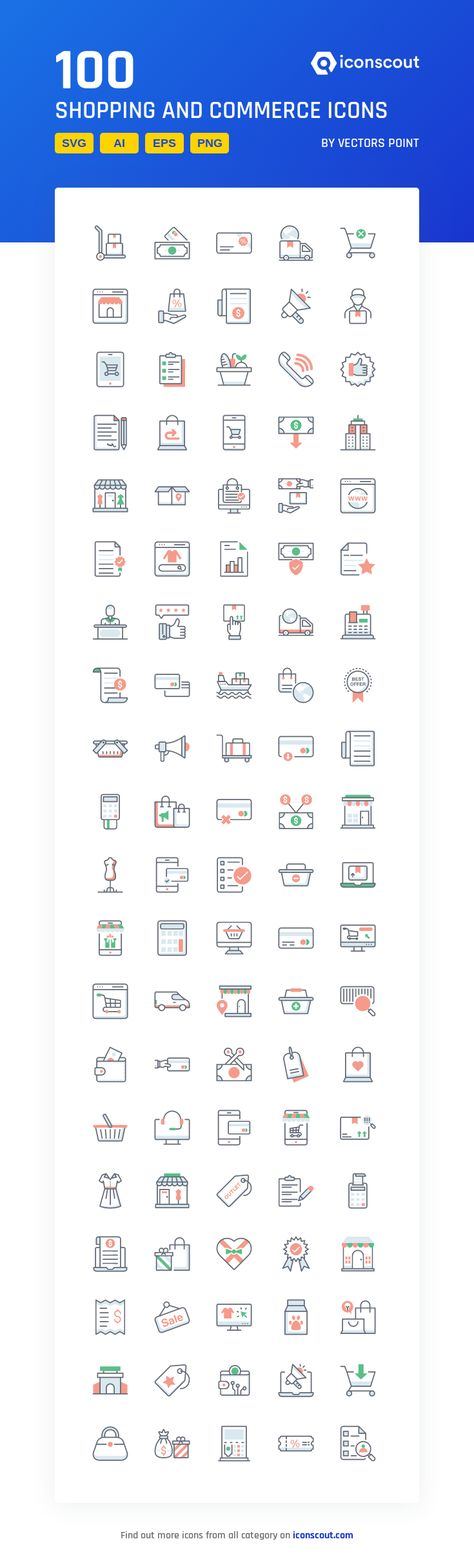 Download Shopping And Commerce Icon pack - Available in SVG, PNG, EPS, AI & Icon fonts