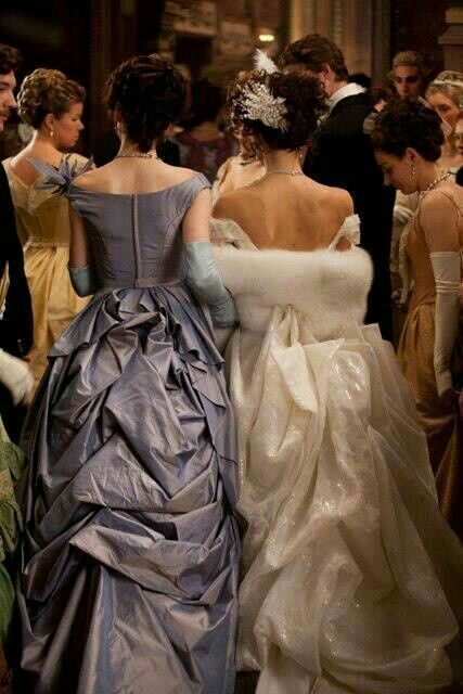 "Keira Knightley and Michelle Dockery, ""Anna Karenina"", Costume design by Jacqueline Durran."