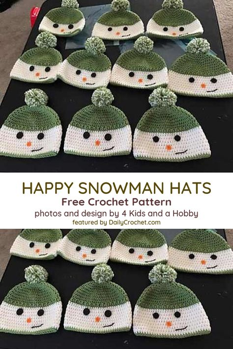 [Free Pattern] Unbelievably Cute Happy Snowman Hat You Can Crochet For A Child – Knit And Crochet Daily [Free Pattern] Unbelievably Cute Happy Snowman Hat.