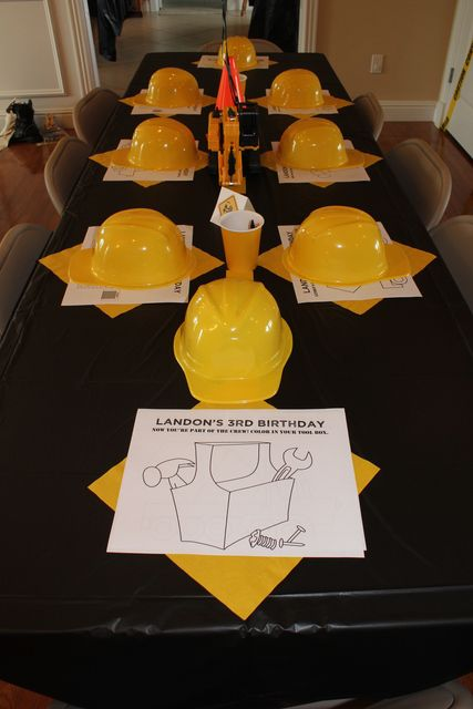 Activities at a Construction Party #construction #partyactivities